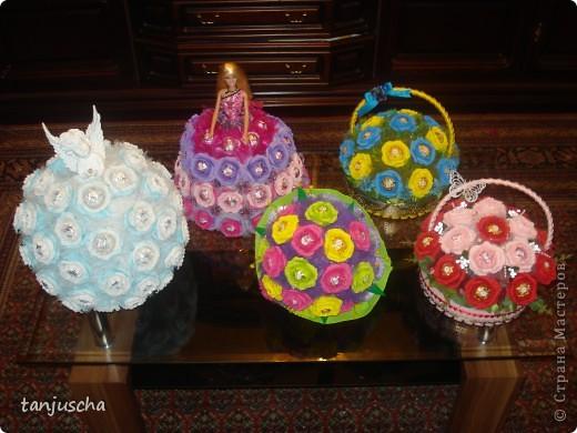Свит-дизайн Бумагопластика, Оригами из кругов: Мои новые работы  Бумага гофрированная День рождения. Фото 13