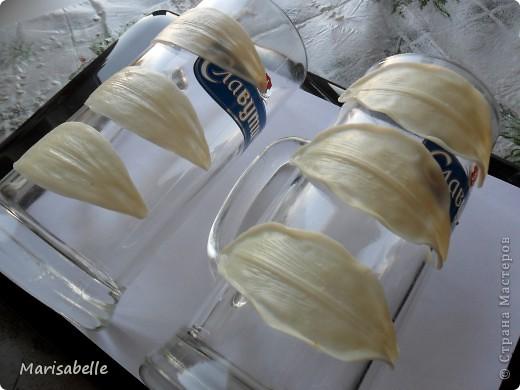 Поделка, изделие, Флористика Лепка: Лилия в кокосовой скорлупе Фарфор холодный. Фото 16