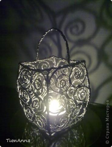 Интерьер, Поделка, изделие Плетение: Подсвечник из фольги Фольга. Фото 3