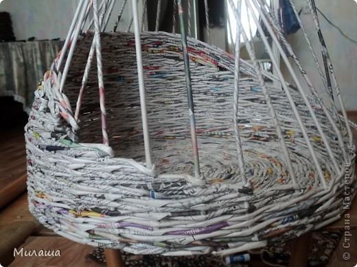 Мастер-класс, Поделка, изделие Плетение: МК. Кошкин дом. Бумага газетная Отдых. Фото 5