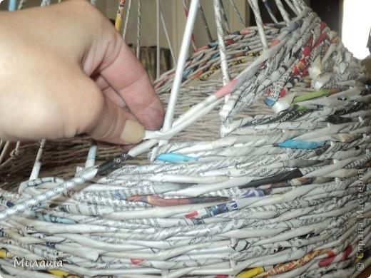 Мастер-класс, Поделка, изделие Плетение: МК. Кошкин дом. Бумага газетная Отдых. Фото 6