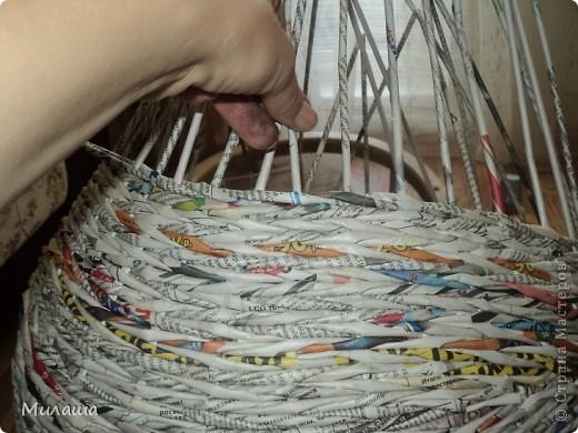 Мастер-класс, Поделка, изделие Плетение: МК. Кошкин дом. Бумага газетная Отдых. Фото 7