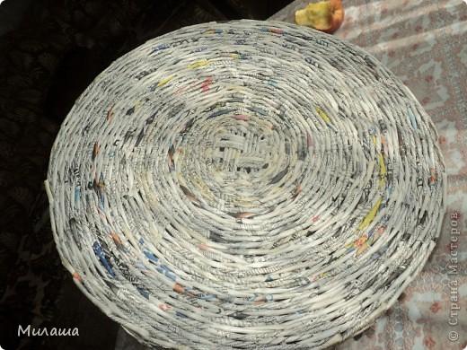 Мастер-класс, Поделка, изделие Плетение: МК. Кошкин дом. Бумага газетная Отдых. Фото 3