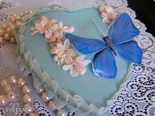 Поделка, изделие, Упаковка Лепка:  Шкатулка , бабочка и скульптурка! Фарфор холодный 8 марта, День матери, День рождения. Фото 4