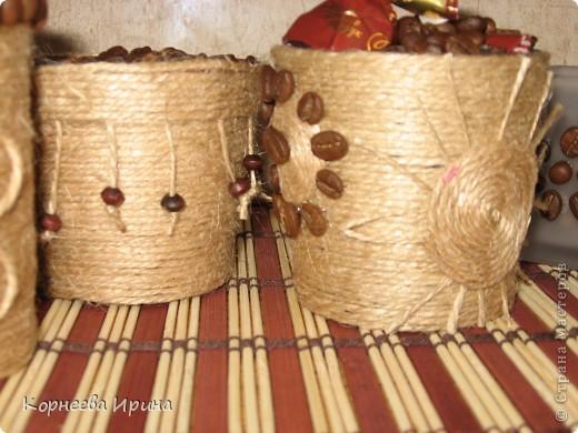 Декор предметов, Мастер-класс Аппликация: Оформляем горшочки для кофейного дерева  Нитки Отдых. Фото 3