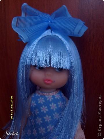 Куклы, Мастер-класс: Волосы для Мальвины. Ленты. Фото 1