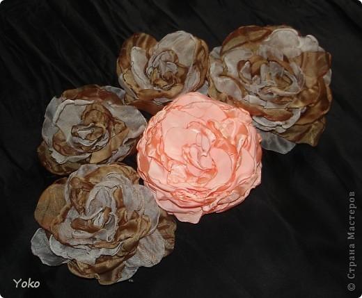 Мастер-класс Шитьё: Цветы из ткани + МК Ткань. Фото 1