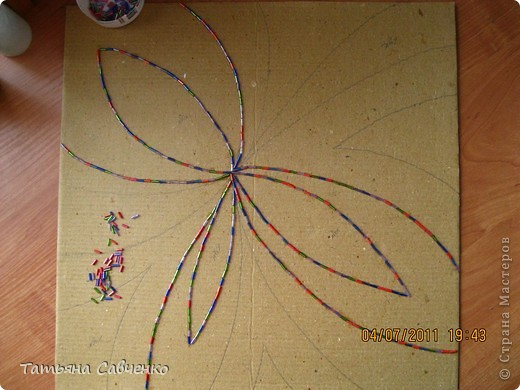Картина, панно, Мастер-класс Аппликация: Картина из зерна по мотивам... Крупа День рождения. Фото 2