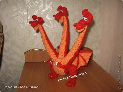 Игрушка Вязание: Змей Горыныч Пряжа.