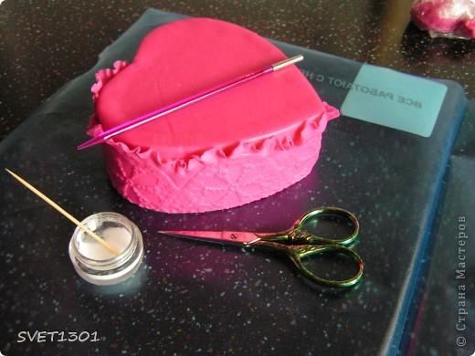 Мастер-класс Лепка: Как я делаю шкатулки из холодного фарфора. Фарфор холодный 8 марта, День рождения. Фото 6