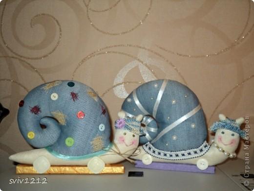 Куклы Шитьё: УЛИТКИ! Ткань. Фото 1