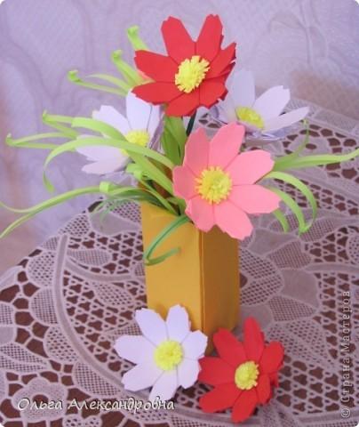 Мастер-класс Оригами: Космея(МК) Бумага. Фото 1