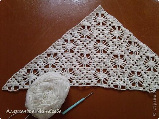 Гардероб Вязание крючком: шаль для любимой свекрови Нитки, Пряжа. Фото 1
