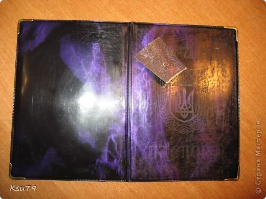 Мастер-класс Декупаж: обложки для паспорта (МК) Краска, Салфетки. Фото 8
