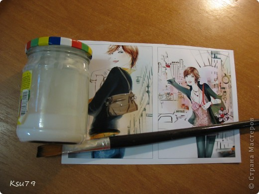 Мастер-класс Декупаж: обложки для паспорта (МК) Краска, Салфетки. Фото 1