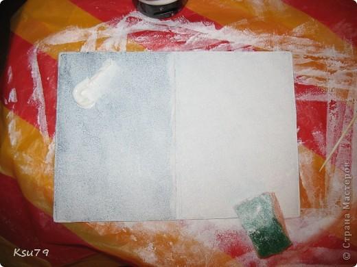 Мастер-класс Декупаж: обложки для паспорта (МК) Краска, Салфетки. Фото 11