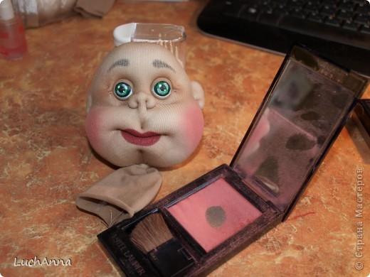 "Мастер-класс Шитьё: МК по созданию куклы ""Замарашка"". Часть 1 - голова. Капрон. Фото 1"