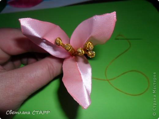 Мастер-класс Шитьё: Как я делаю лилию. Ленты. Фото 20