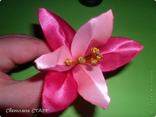 Мастер-класс Шитьё: Как я делаю лилию. Ленты. Фото 22