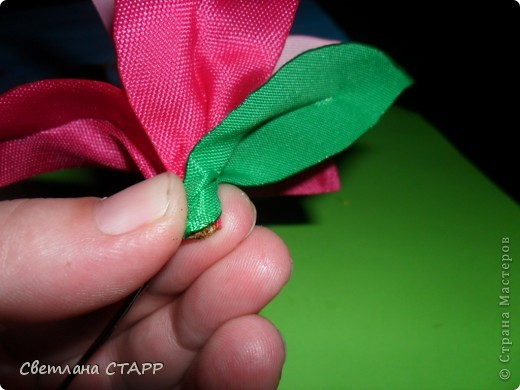 Мастер-класс Шитьё: Как я делаю лилию. Ленты. Фото 31