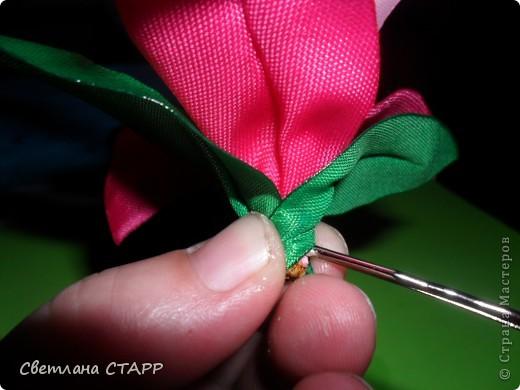 Мастер-класс Шитьё: Как я делаю лилию. Ленты. Фото 32