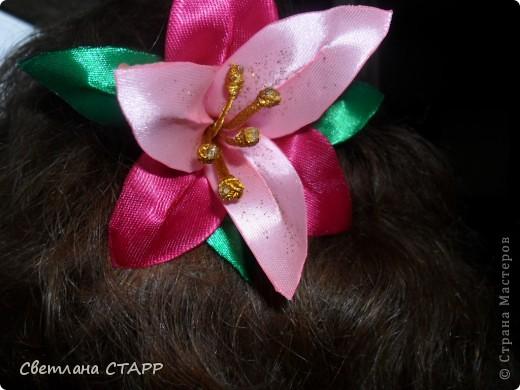 Мастер-класс Шитьё: Как я делаю лилию. Ленты. Фото 35
