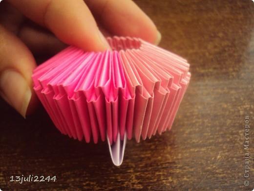 Мастер-класс, Педагогический опыт, Поделка, изделие Оригами модульное:  Мини-МК Как уменьшать модули Бумага, Клей Отдых. Фото 2
