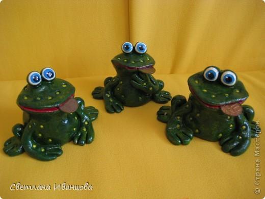 Поделка, изделие Лепка: Лягушки Тесто соленое. Фото 15
