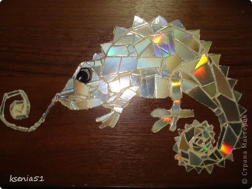 Мастер-класс Мозаика: Наклейки -   мозаика из CD-дисков  Диски компьютерные. Фото 2