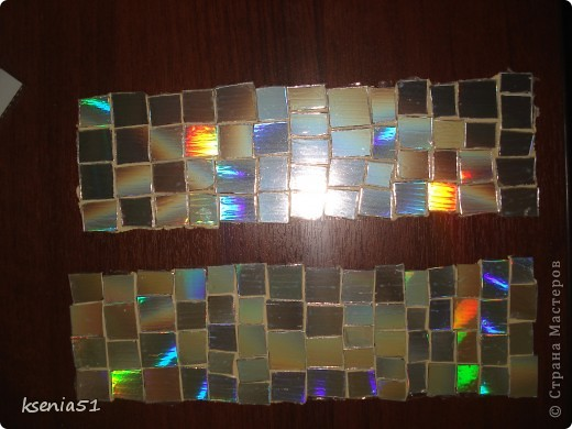 Мастер-класс Мозаика: Наклейки -   мозаика из CD-дисков  Диски компьютерные. Фото 1