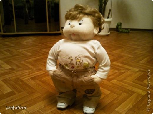 Игрушка, Куклы Шитьё: Непоседа и дерево из роз Ткань День рождения. Фото 1