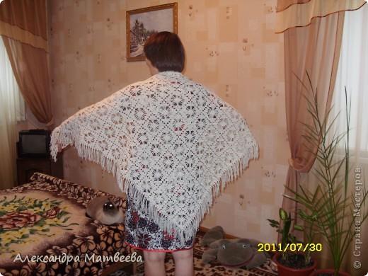 Гардероб Вязание крючком: шаль для любимой свекрови Нитки, Пряжа. Фото 4
