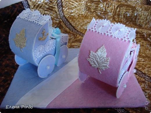 Мастер-класс Моделирование: МК колясочки- коробочки на свадьбу ( для денег) Свадьба. Фото 20