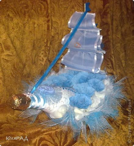 Свит-дизайн: Свадебный кораблик))) Бумага гофрированная Свадьба. Фото 2