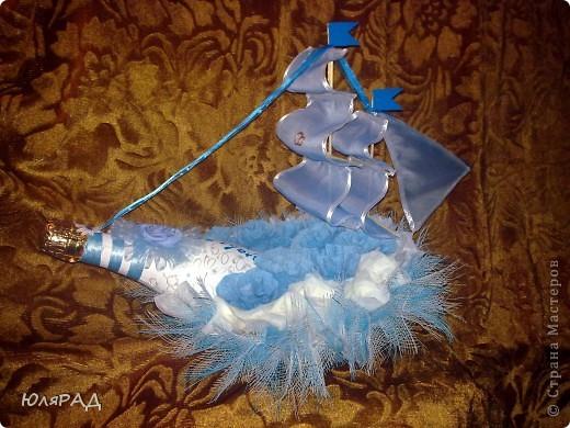 Свит-дизайн: Свадебный кораблик))) Бумага гофрированная Свадьба. Фото 1