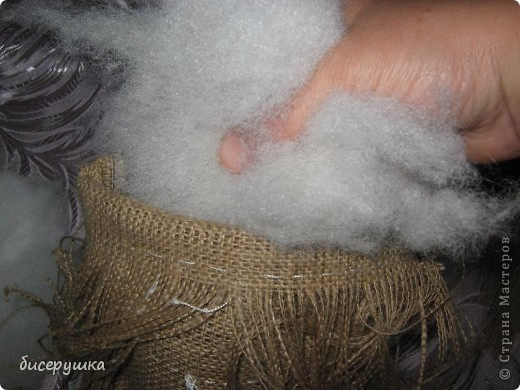 Сегодня я покажу МАСТЕР-КЛАСС по пошиву домовёнка с мешковины.... Фото 11