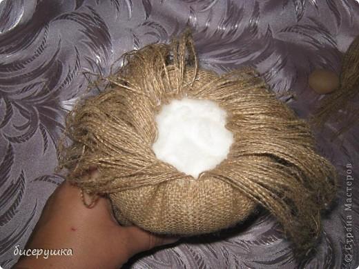 Сегодня я покажу МАСТЕР-КЛАСС по пошиву домовёнка с мешковины.... Фото 12