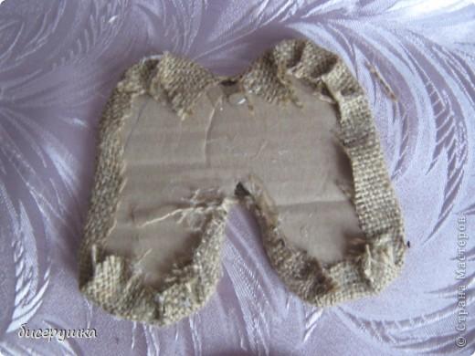 Сегодня я покажу МАСТЕР-КЛАСС по пошиву домовёнка с мешковины.... Фото 26