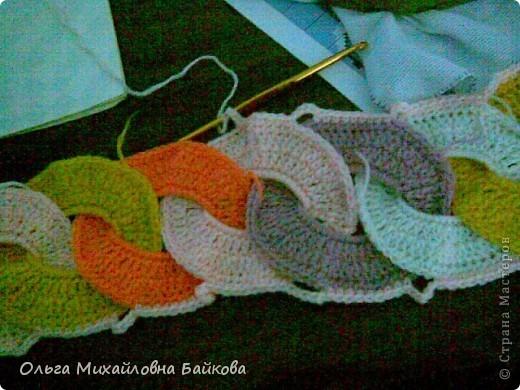 Гардероб, Мастер-класс Вязание крючком: Шарф в подарок Нитки День рождения. Фото 10