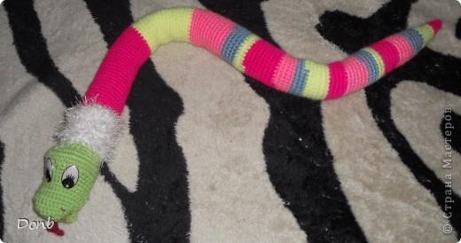 Игрушка Вязание крючком: Змея Пряжа.  Фото 4.