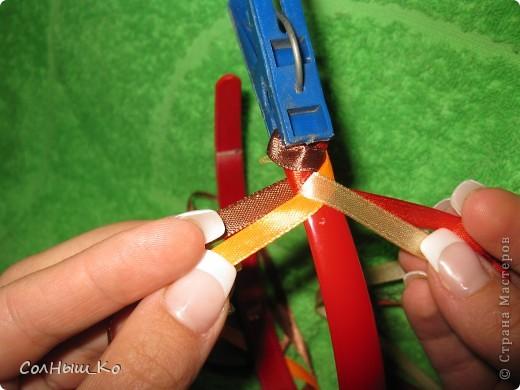 Плетение из лент атласных лент своими руками