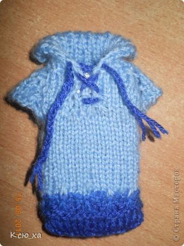 Вязание спицами: Чехол для телефона свитер Пряжа.