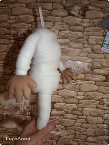 Куклы, Мастер-класс Шитьё: Кукольный каркас и тело (мини МК) Капрон, Поролон, Проволока. Фото 14