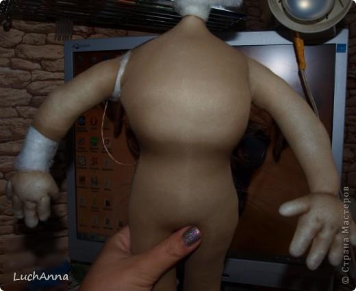 Куклы, Мастер-класс Шитьё: Кукольный каркас и тело (мини МК) Капрон, Поролон, Проволока. Фото 38