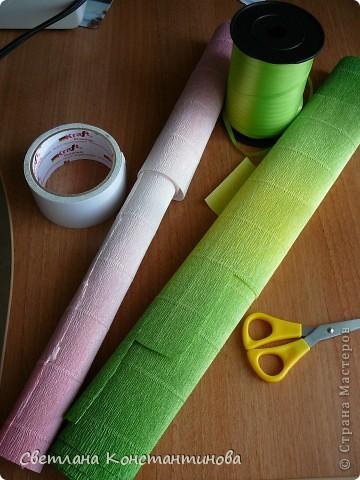 Мастер-класс, Свит-дизайн Бумагопластика: МК по изготовлению роз в свит -дизайне Бумага гофрированная, Бусинки. Фото 2