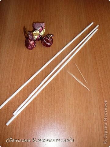 Мастер-класс, Свит-дизайн Бумагопластика: МК по изготовлению роз в свит -дизайне Бумага гофрированная, Бусинки. Фото 3