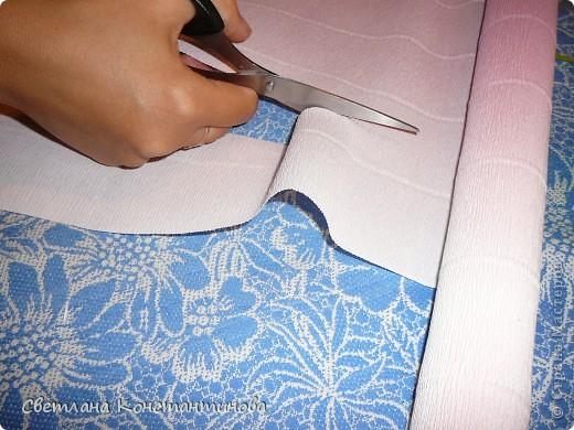 Мастер-класс, Свит-дизайн Бумагопластика: МК по изготовлению роз в свит -дизайне Бумага гофрированная, Бусинки. Фото 4