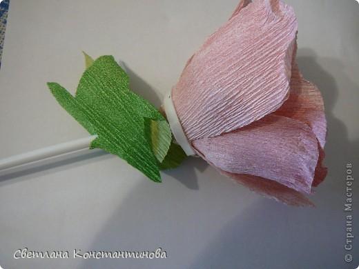 Мастер-класс, Свит-дизайн Бумагопластика: МК по изготовлению роз в свит -дизайне Бумага гофрированная, Бусинки. Фото 17