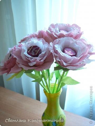 Мастер-класс, Свит-дизайн Бумагопластика: МК по изготовлению роз в свит -дизайне Бумага гофрированная, Бусинки. Фото 21