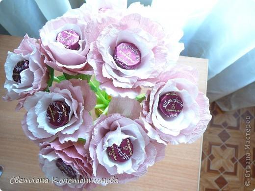 Мастер-класс, Свит-дизайн Бумагопластика: МК по изготовлению роз в свит -дизайне Бумага гофрированная, Бусинки. Фото 22